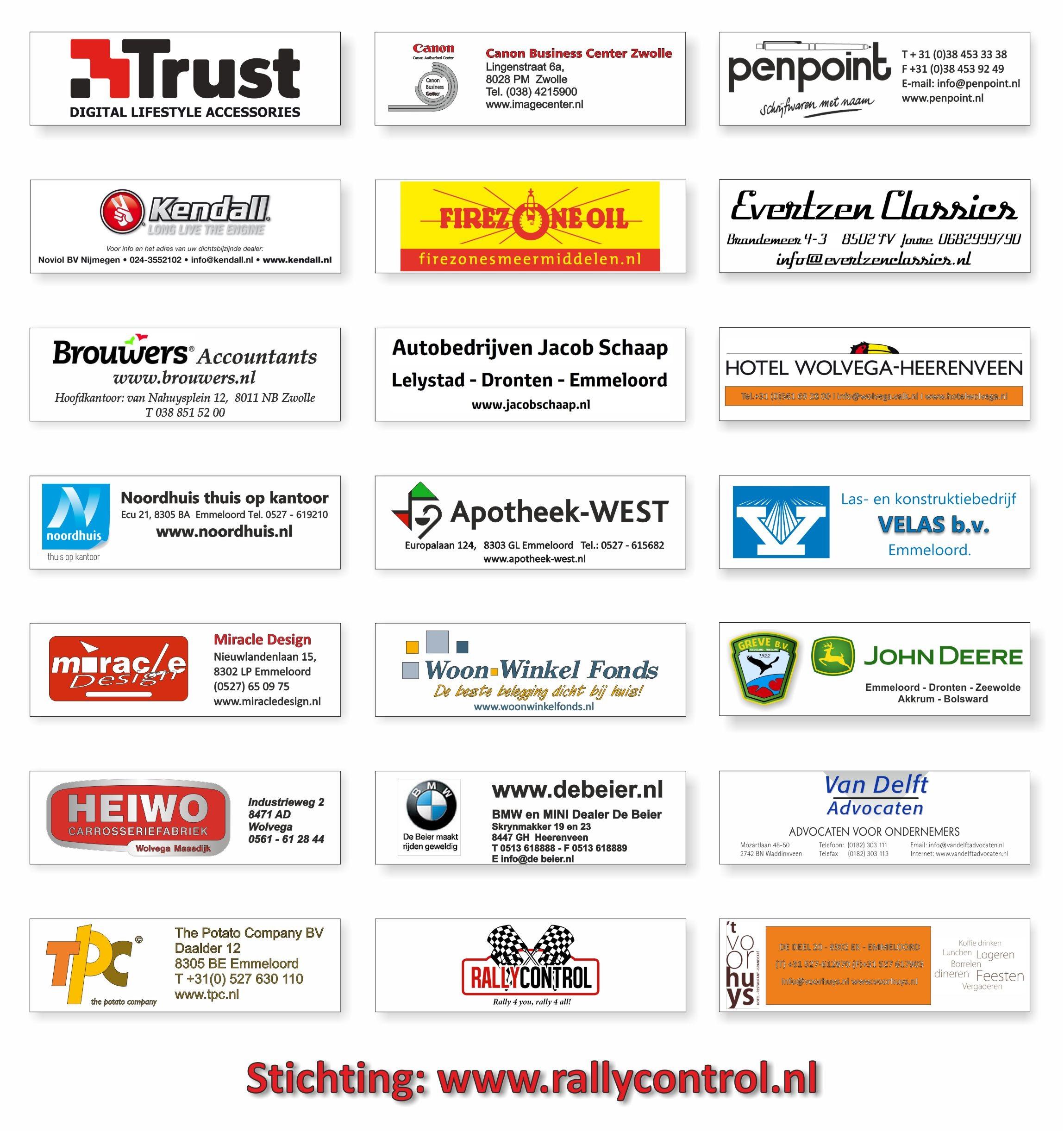 sponsoren overzicht 2016